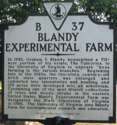 Blandy Experimental Farm Marker image. Click for full size.