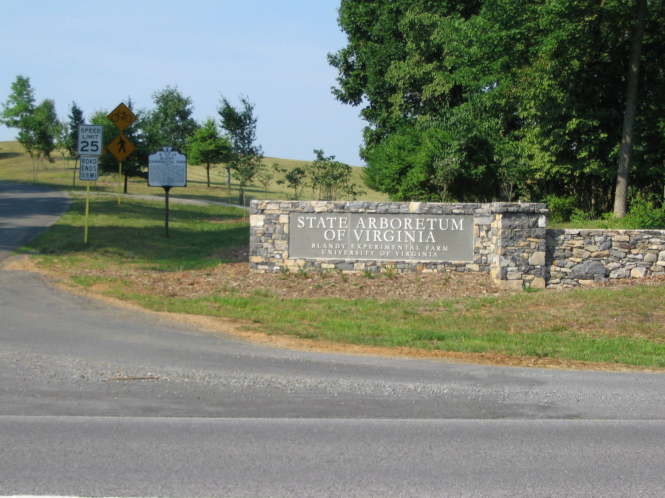 Entrance to the State Arboretum