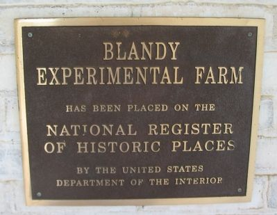 Blandy Experimental Farm is on the National Register of Historic Places image. Click for full size.