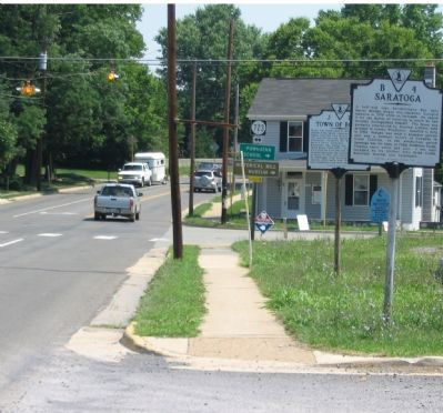 Markers B-4 and J-21 Stand Beside Greenway Avenue in Boyce image. Click for full size.