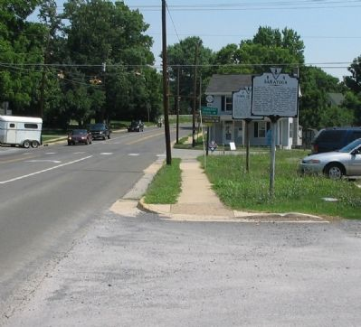 B 4 and J 21 Stand at the Intersection of Main and Greenway Streets in Boyce image. Click for full size.