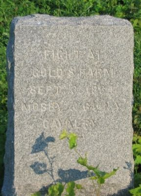 Fight at Gold's Farm Marker image. Click for full size.