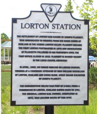 Lorton Station Marker image. Click for full size.