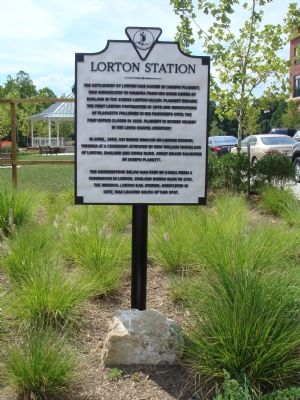 Lorton Station Marker and Cornerstone image. Click for full size.