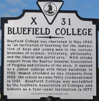 Bluefield College Marker image. Click for full size.