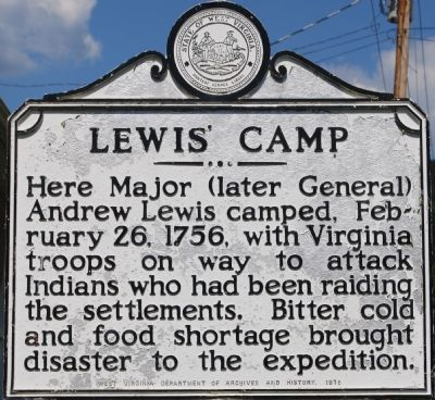 Lewis' Camp Marker image. Click for full size.