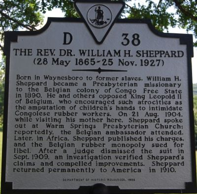 The Rev. Dr. William H. Sheppard image. Click for full size.