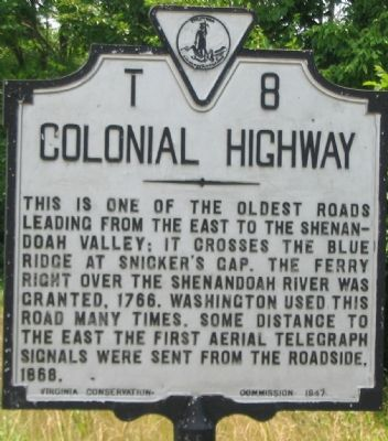 Colonial Highway Marker image. Click for full size.
