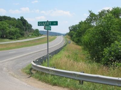 Marker at the Intersection of Harry Byrd Highway and Quarry Road image. Click for full size.