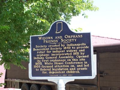 Side One: Widows and Orphans Friends' Society Marker image. Click for full size.