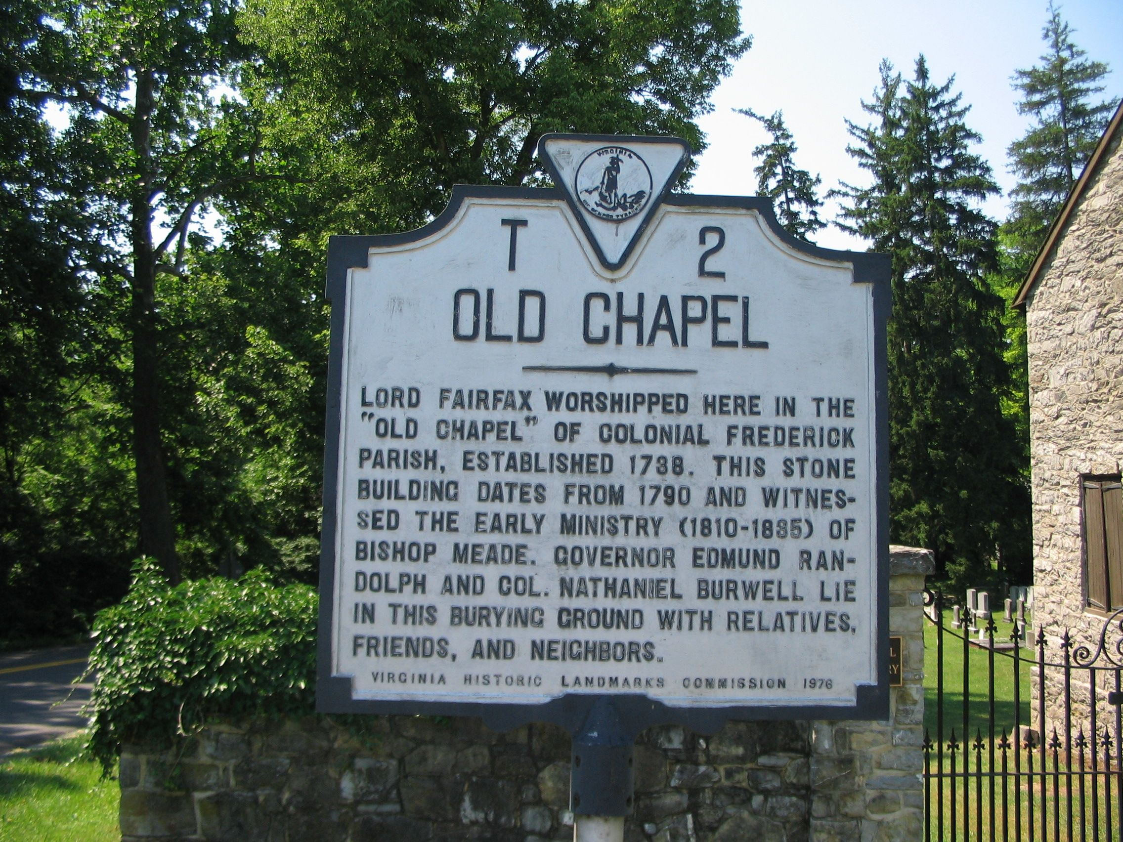 Old Chapel Marker