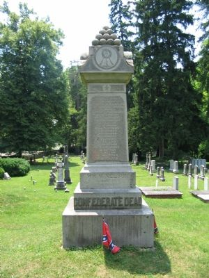Confederate Memorial in the Cemetery image. Click for full size.