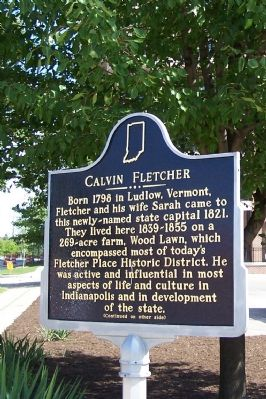 Calvin Fletcher Marker image. Click for full size.