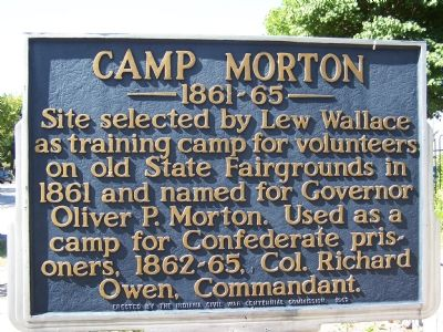 Camp Morton 1861-65 Marker image. Click for full size.