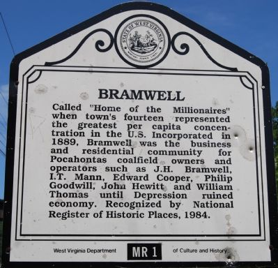 Bramwell Marker image. Click for full size.