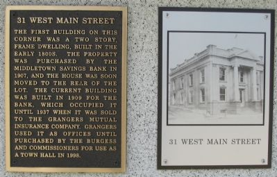 31 West Main Street Marker image. Click for full size.