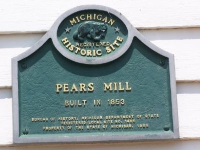 Pears Mill Marker image. Click for full size.