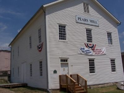 Pears Mill, the only remaining water-powered mill built along Buchanan's McCoy Creek. image. Click for full size.