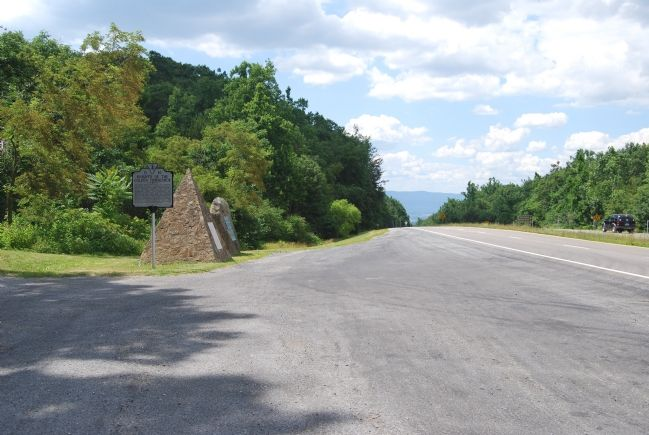 This marker is the most distant. The Shenandoah Valley Lies Ahead. image. Click for full size.
