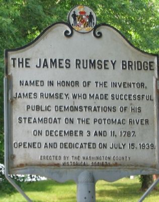 The James Rumsey Bridge Marker image. Click for full size.