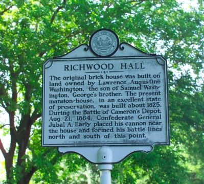 Richwood Hall Marker image. Click for full size.