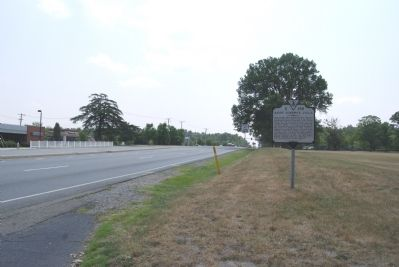 Marker along Brook Road (US 1) image. Click for full size.