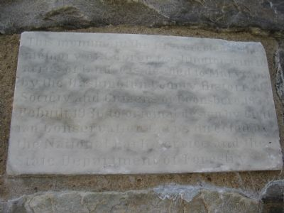 Close up of the Stone Sign on the Monument image. Click for full size.