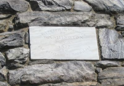 Stone Marking on the West Facing of the Monument image. Click for full size.