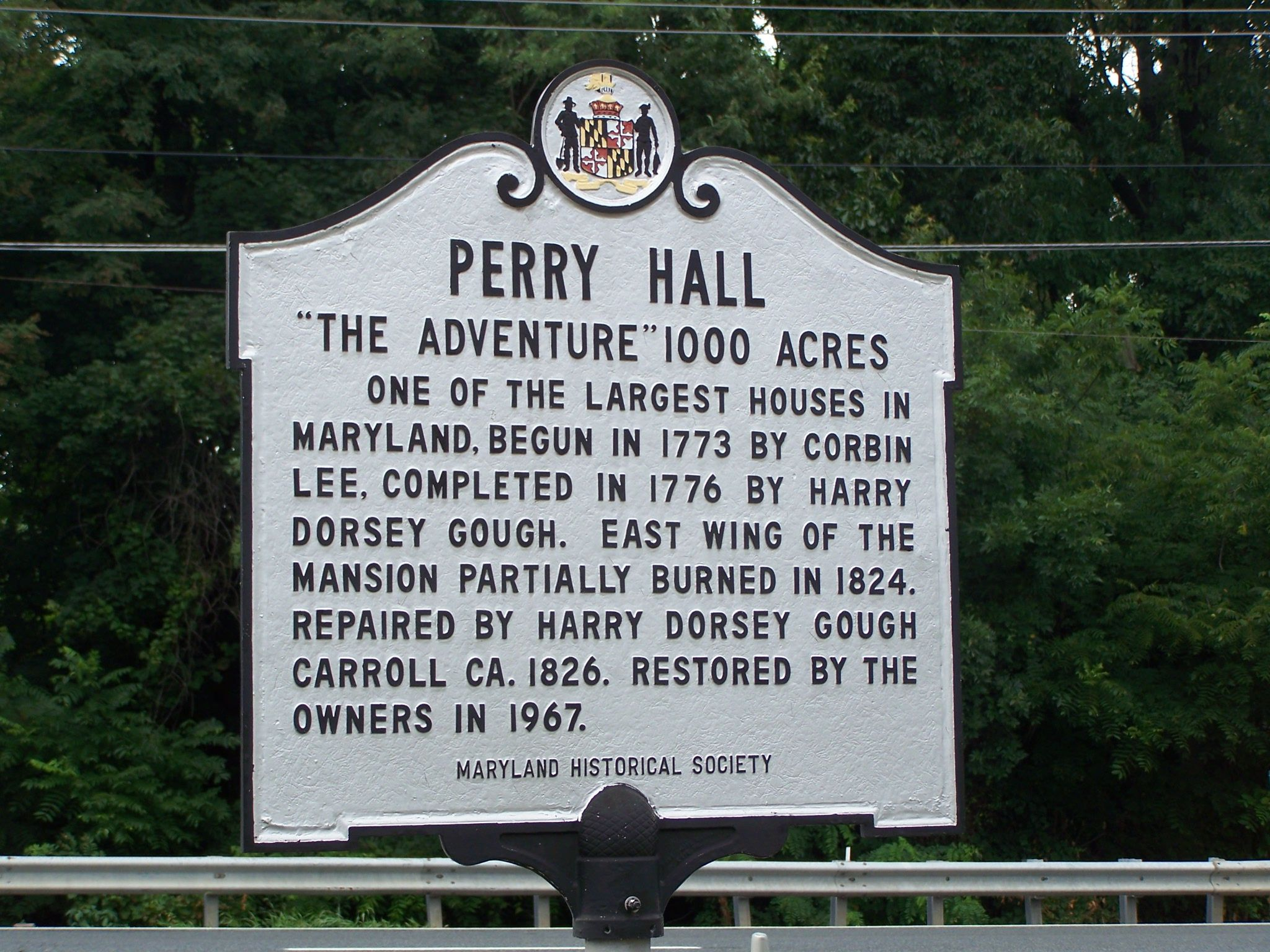 Perry Hall Marker