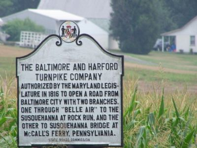 The Baltimore and Harford Turnpike Company Marker image. Click for full size.