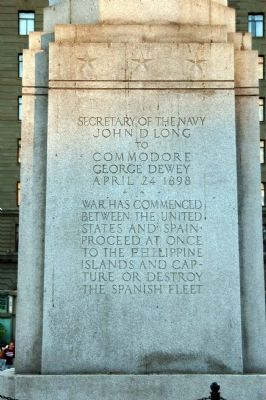 Dewey Monument Marker, Panel 3 image. Click for full size.