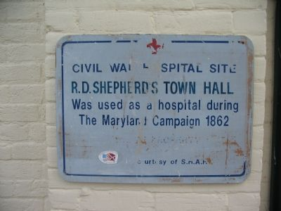 Civil War Hospital Site - R.D. Shepherds Town Hall Marker image. Click for full size.