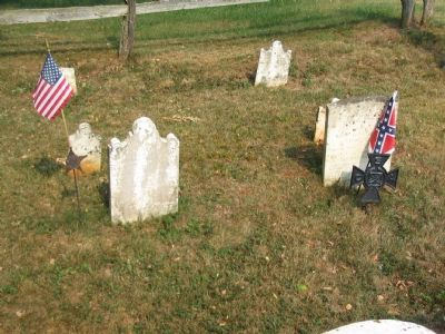 Graves of George Adam and George W. Moler, Jr. image. Click for full size.