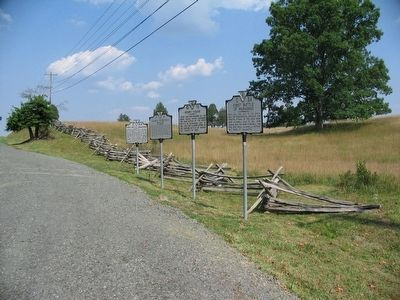 Henry House Marker's previous location with other markers along Lee Highway. image. Click for full size.
