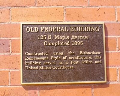 Old Federal Building Marker image. Click for full size.
