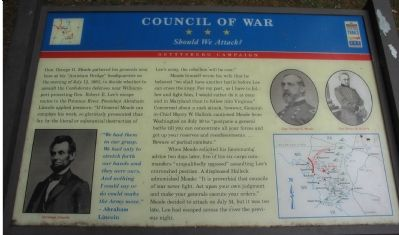Council of War Marker image. Click for full size.