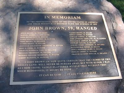 Memorial to John Brown and his Men image. Click for full size.