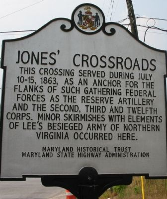 Jones' Crossroads Marker image. Click for full size.