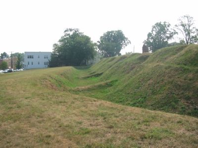 The Glasis, Ditch, and Parapet of Fort Stevens in Profile image. Click for full size.