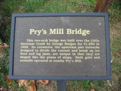 Pry's Mill Bridge Marker image. Click for full size.