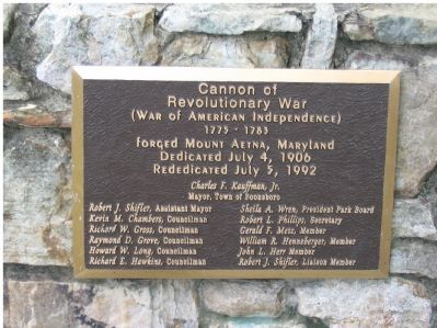 Cannon of Revolutionary War Marker image. Click for full size.