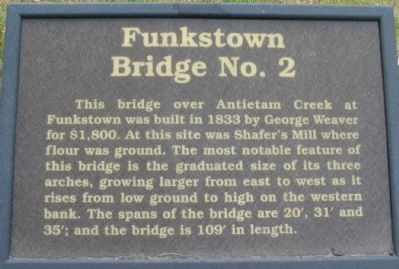 Funkstown Bridge No. 2 Marker image. Click for full size.