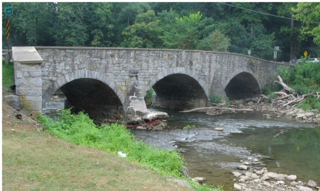 Bridge No. 2 Spaning the Antietam image. Click for full size.