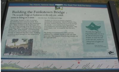 Building the Funkstown Bridge Marker image. Click for full size.