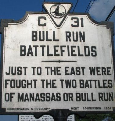 Bull Run Battlefields Marker image. Click for full size.