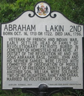 Abraham Lakin 2nd Marker image. Click for full size.