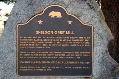 Sheldon Grist Mill Marker image. Click for full size.