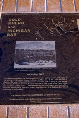 Gold Mining and Michigan Bar Marker image. Click for full size.