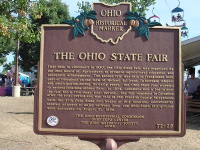 The Ohio State Fair Marker image. Click for full size.