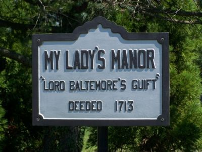 My Lady's Manor Marker image. Click for full size.